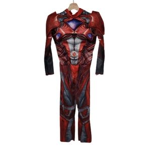 Red Power Ranger Costume Padded Chest One Piece